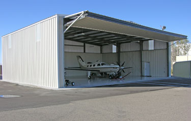 Plan hangar métallique